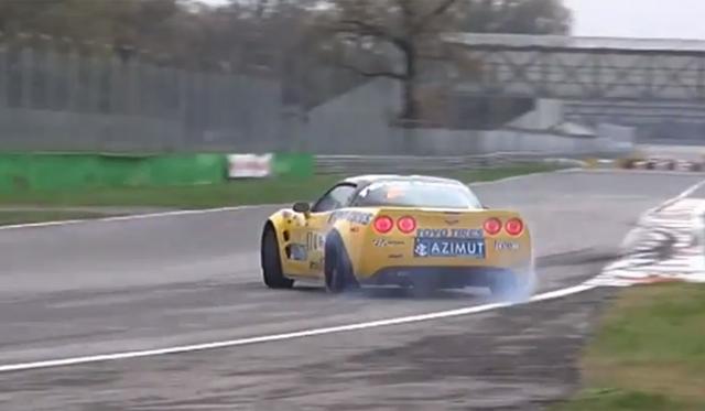 Drifting in a Corvette Stingray ZR1 on Track!