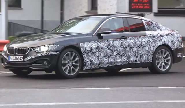 Upcoming 2014 BMW 4-Series Gran Coupe Spied at the Nurburgring