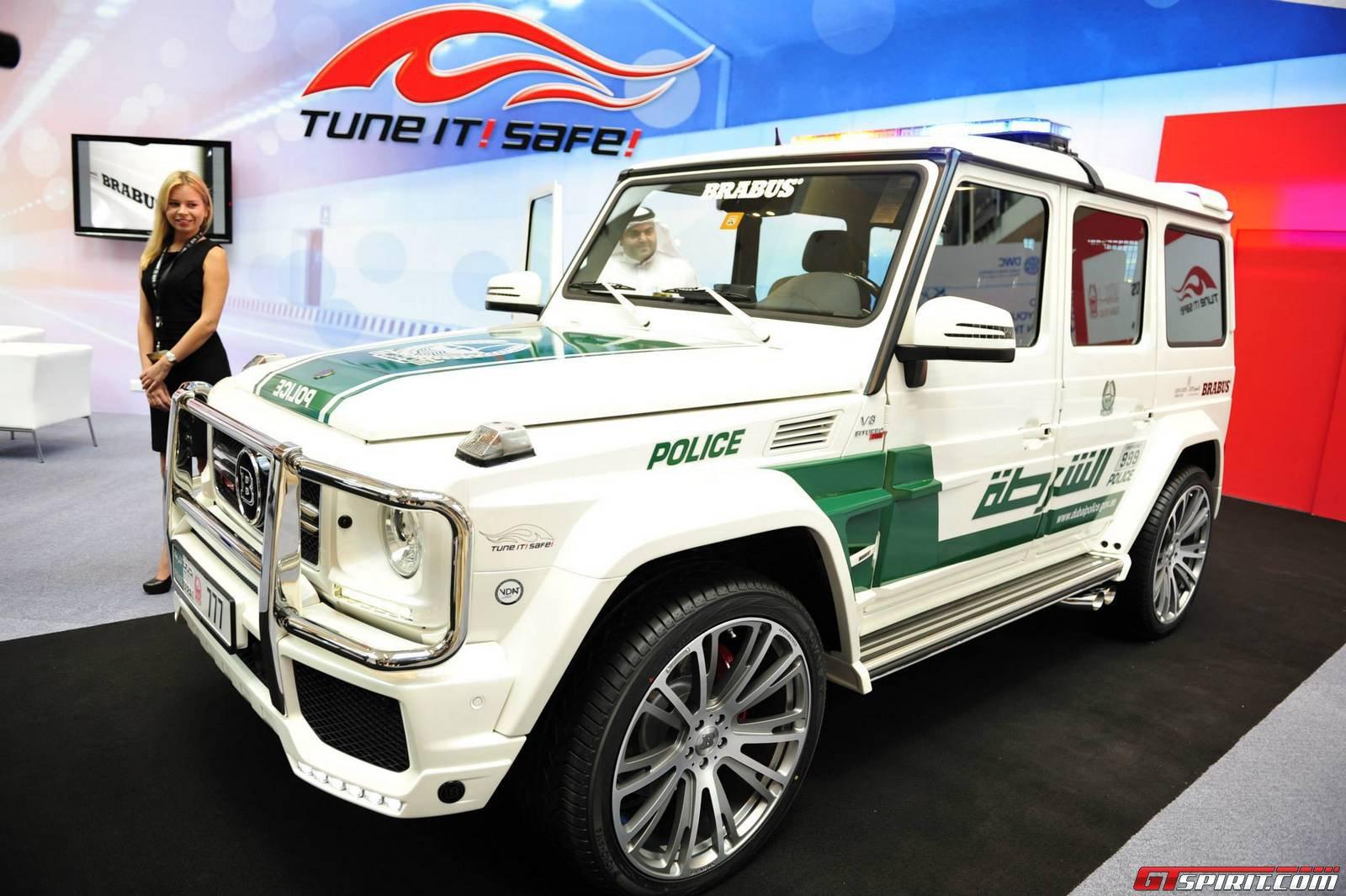 Dubai 2013: Brabus B63S 700 Widestar Dubai Police Edition