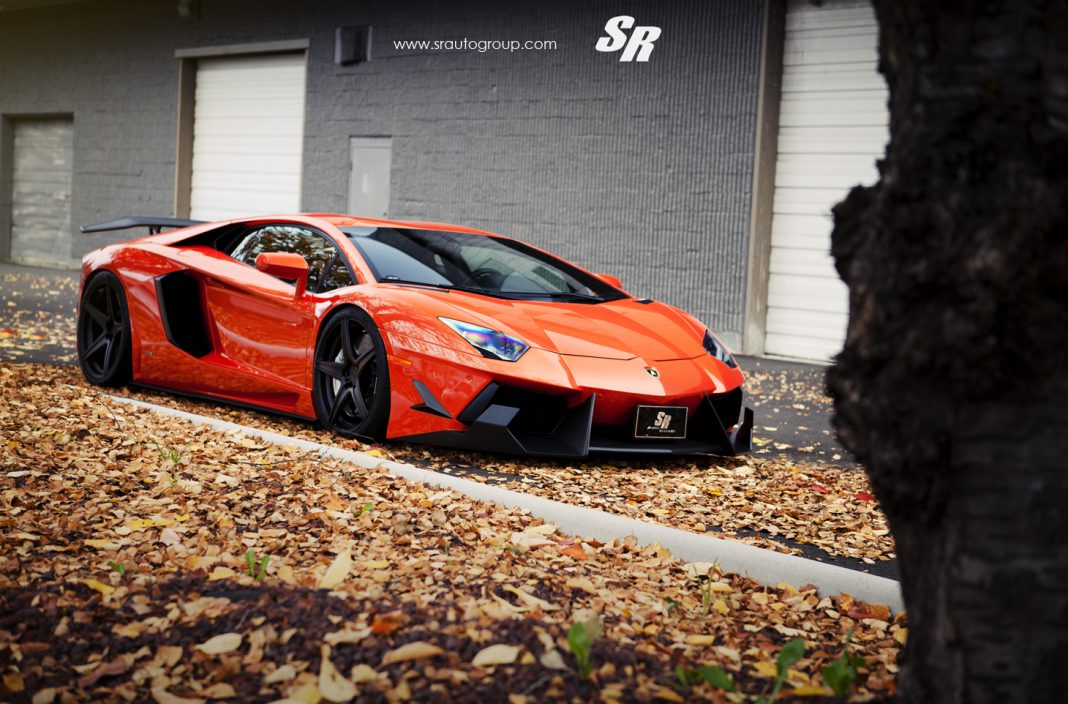 Lamborghini Aventador by SR Auto Group Amongst the Autumn Leaves