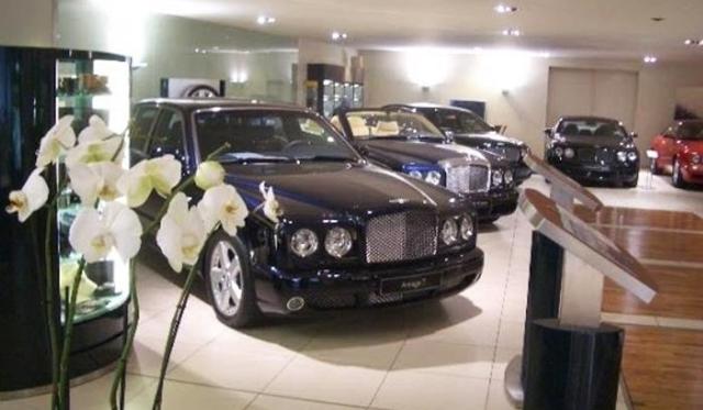 Grand Theft in Europe's largest Bentley Dealership