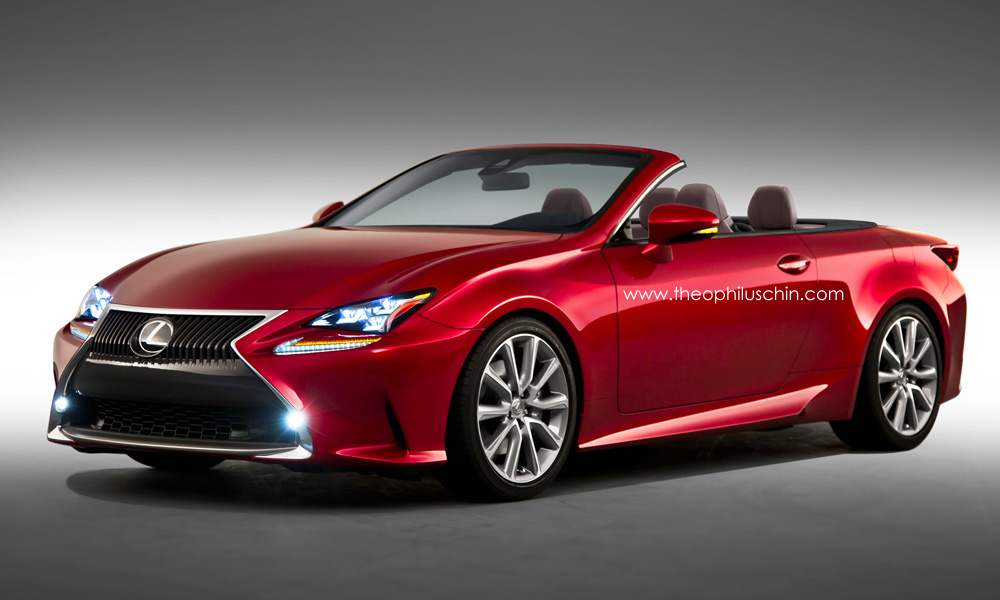 How a Possible Lexus RC Convertible Will Look