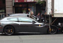 Ferrari FF and Truck Collide in New York, Ferrari Comes Off Worse