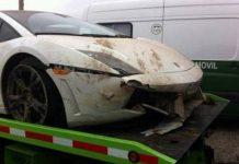 Chilean Footballer Crashes Lamborghini Gallardo LP560-4