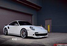 White Porsche 997 Turbo