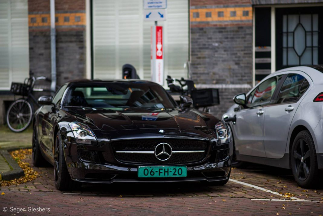 Mercedes-Benz SLS AMG Electric Drive Spotted in Amsterdam