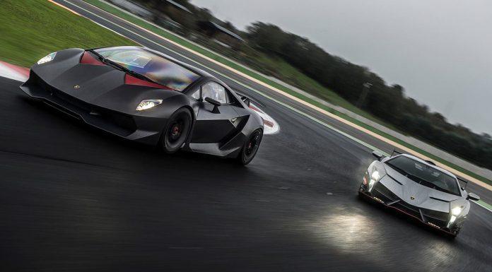 Lamborghini Veneno and Sesto Elemento at Vallelunga Circuit