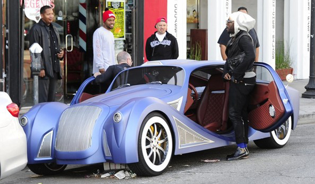 Will I Am Cruises California in his Custom $900 000 Car