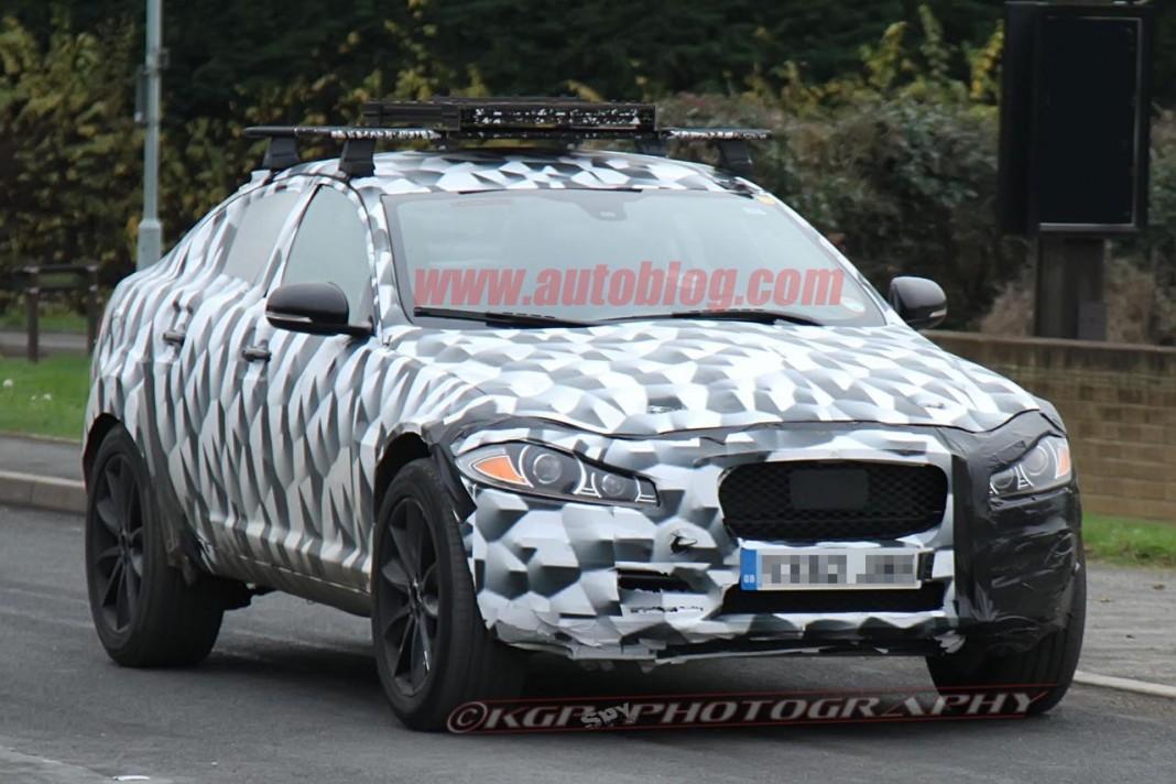 Jaguar Crossover Spied Testing Up Close