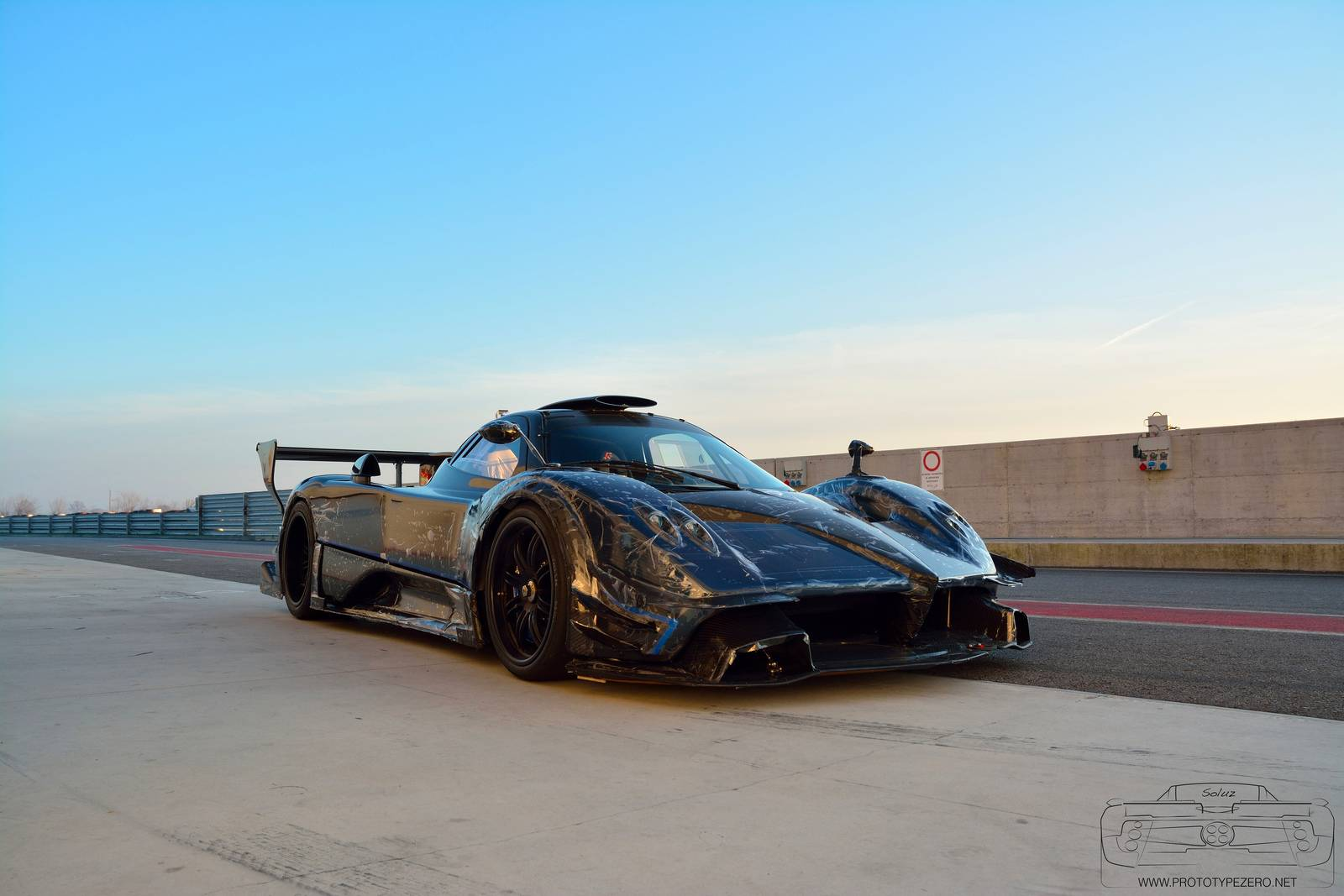 Blue Pagani Zonda Revolucion Tests On Track Gtspirit