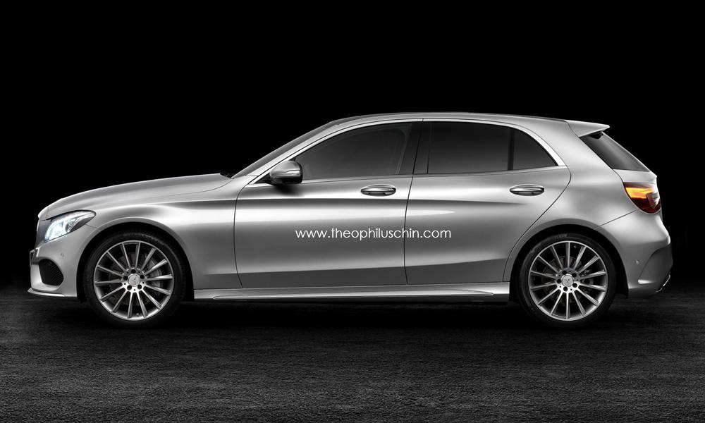 Mercedes-Benz C-Class Hatchback Rendered
