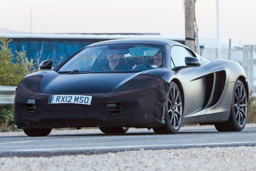 McLaren P13 Spotted Testing Disguised as 12C