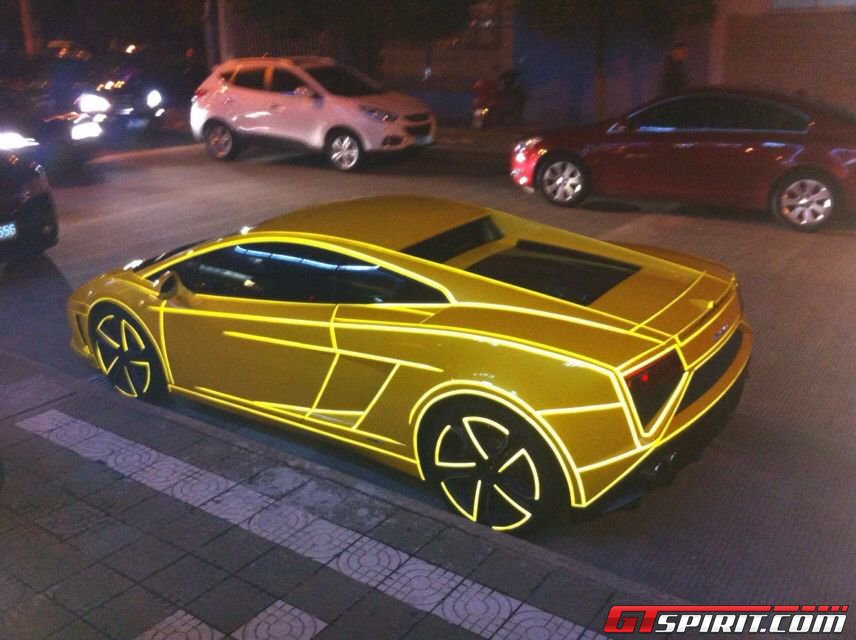 Tron Style Lamborghini Gallardo Lp560 4 Arrives In China