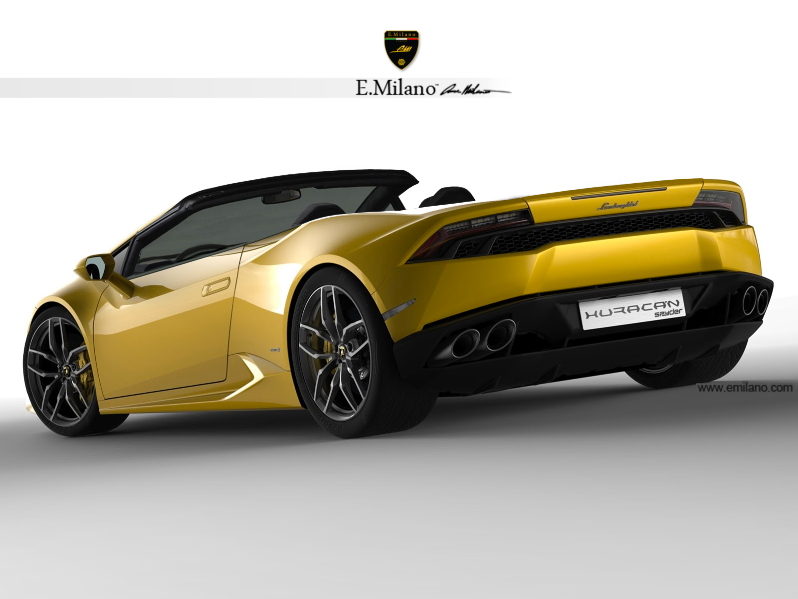 render 2015 lamborghini huracan lp 610 4 spyder by evren milano gtspirit. Black Bedroom Furniture Sets. Home Design Ideas