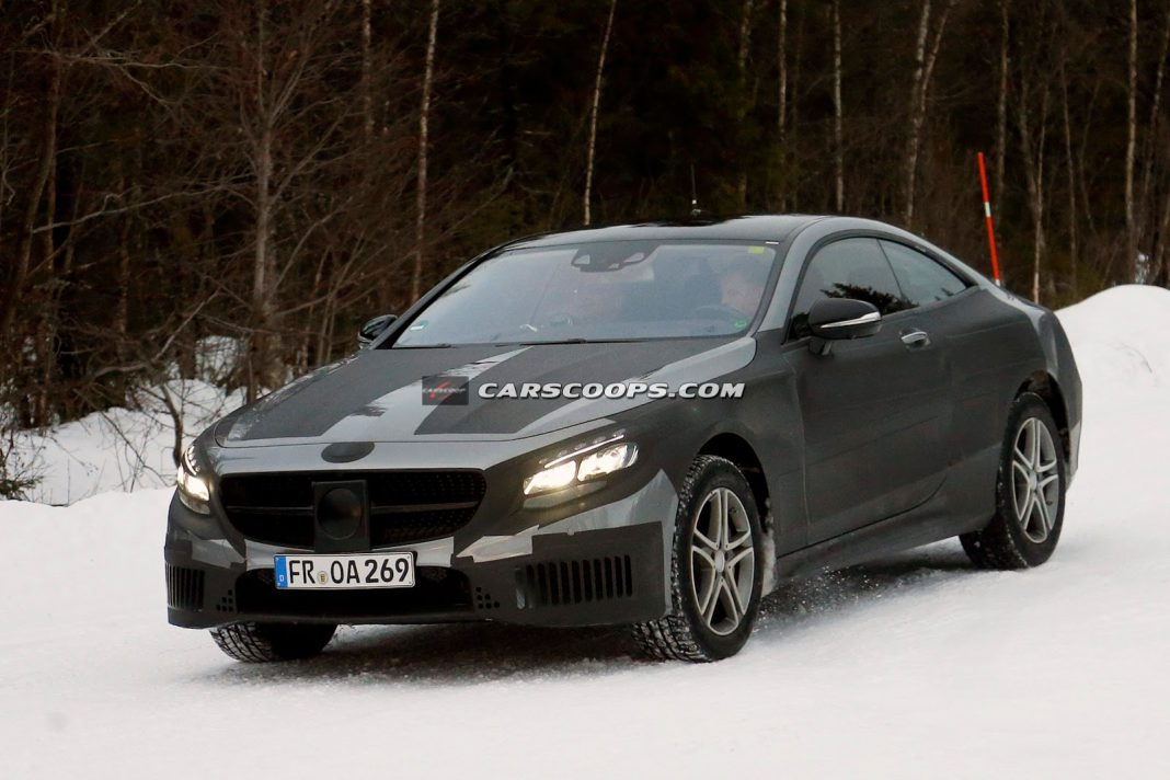 2015 Mercedes-Benz S-Class Coupe Tests in the Cold