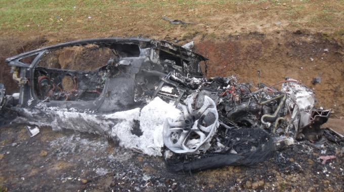 Lamborghini Aventador Burnt to Ground
