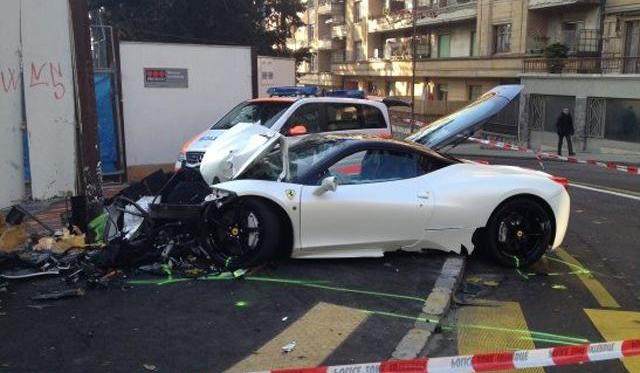 20-Year-Old Destroys Ferrari 458 Italia in Switzerland