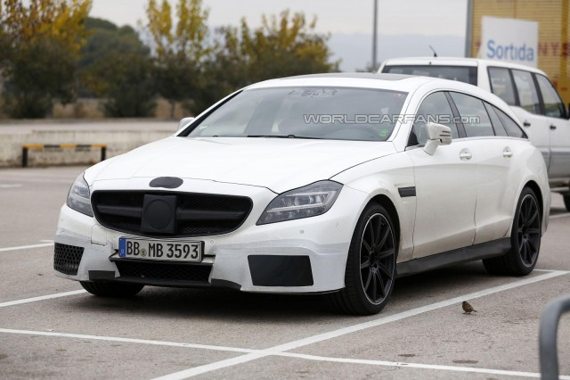 Facelifted Mercedes-Benz CLS 63 AMG Shooting Brake Spied