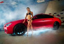 Matte Cherry Red BMW 6er and Sexy Models