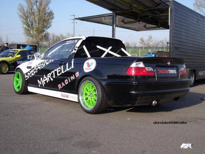 BMW E46 M3 Pick-Up Drifting at Modena Autodrome