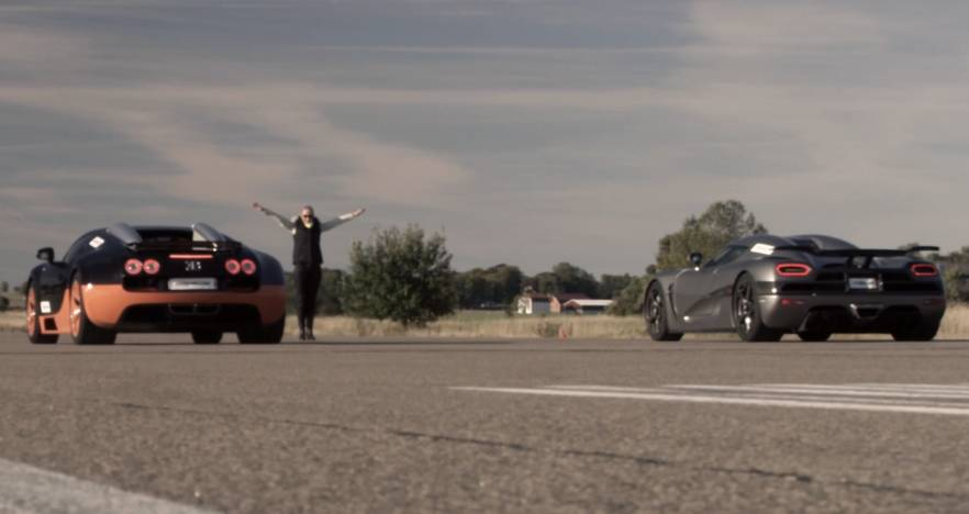Video: Bugatti Veyron GS Vitesse Vs. Koenigsegg Agera R Drag Race