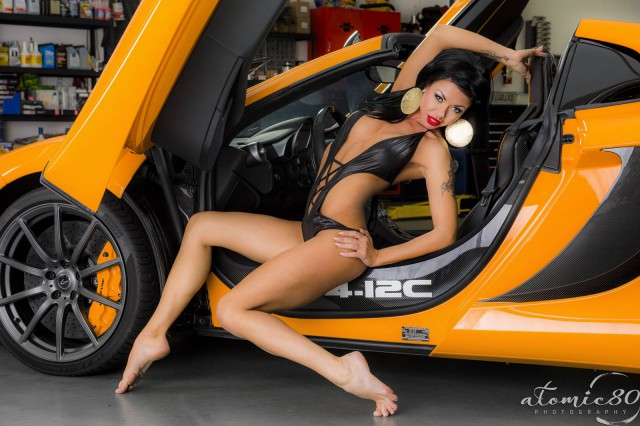 Ferrari 458 Spyder and McLaren 12C Spyder + Sexy Models