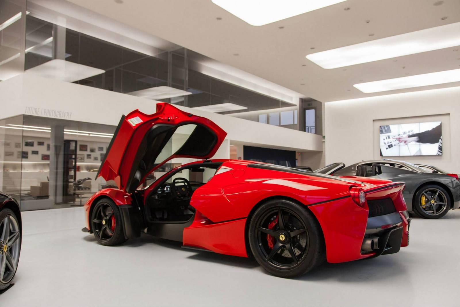 Red Ferrari Laferrari In Geneva Switzerland Gtspirit