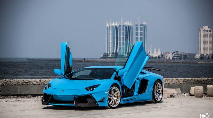 Bleu de France Lamborghini Aventador by Premiere Autowerkz