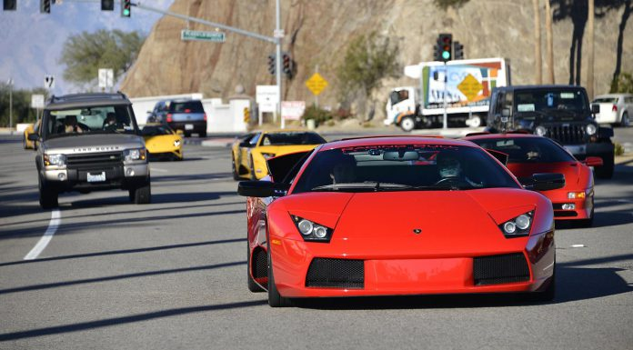 Lamborghini Beverly Hills Rally to Thermal