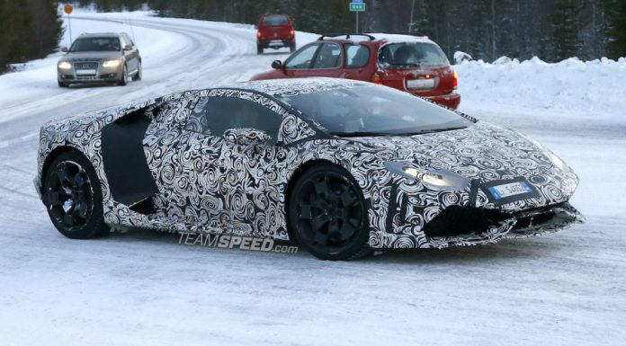2015 Lamborghini Huracan Tests Rally-Style in the Snow