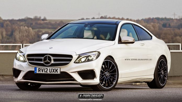 2015 Mercedes-Benz C-Class Coupe and S63 AMG Coupe Rendered