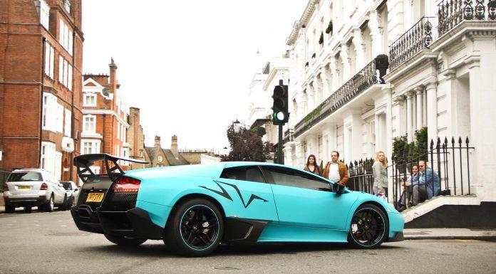Baby Blue Lamborghini Murcielago SV