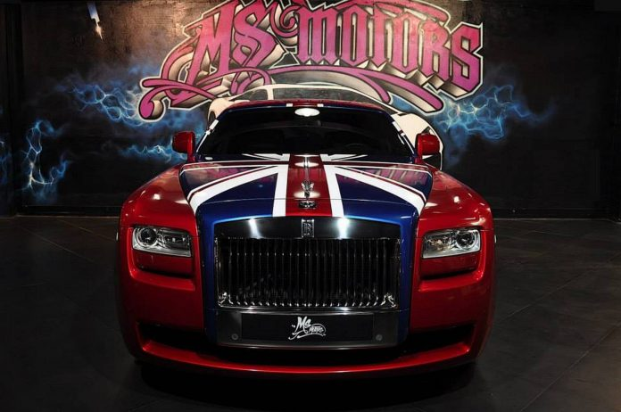 Rolls-Royce Ghost in True Blood & Union Jack Wrap
