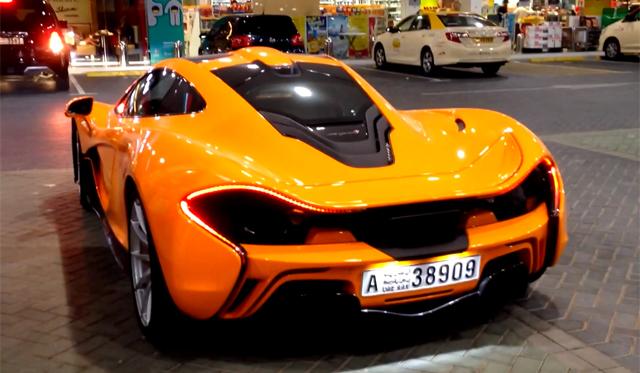 Orange McLaren P1 Spotted Filling Up in Dubai