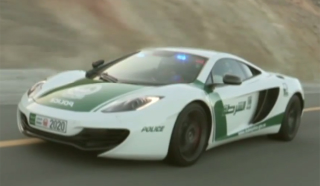 Dubai Police Show Off Their new McLaren 12C