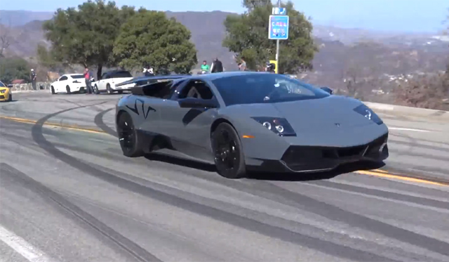 Launching a Lamborghini Murcielago SV on Mulholland