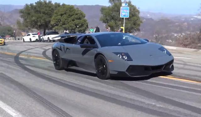 Launching a Lamborghini Murcielago SV on Mulholland
