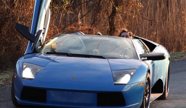 Bam Magera Crashes His Lamborghini Murcielago Roadster