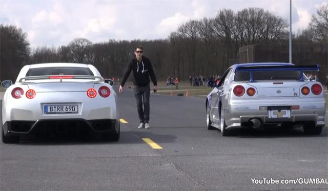 Tuned Nissan Skyline R34 Races Switzer Nissan GT-R P800