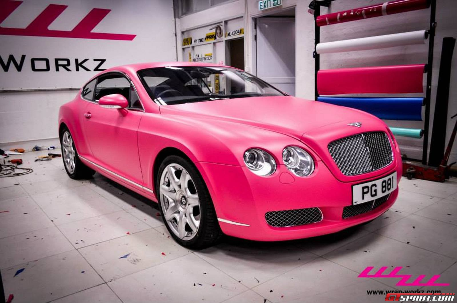 Matte Pink Bentley Continental Gt By Wrap Workz Hong Kong Gtspirit