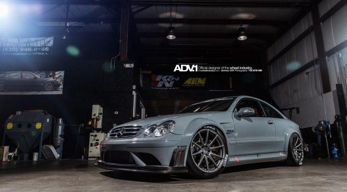 Track-Spec Mercedes CLK63 AMG Black on ADV.1