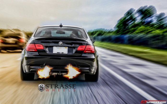 Jerez Black BMW M3 Lowered on SM7 Strasse Wheels