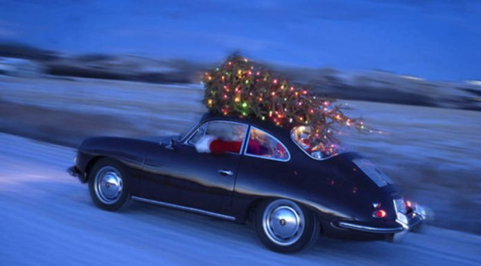 Yes, Your Supercar Can Carry a Christmas Tree