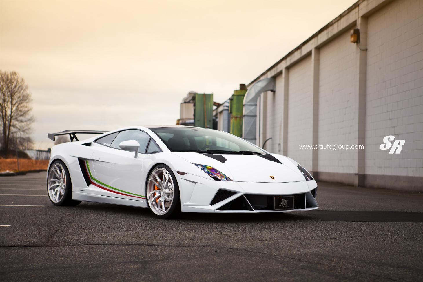 White Lamborghini Gallardo Lp560 4 Stuns With Pur Wheels