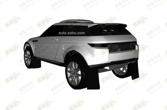 Patented Images of Rally-Spec Range Rover Evoque Emerge