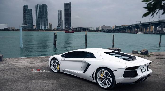 Epic White Lamborghini Aventador on Vellano Wheels