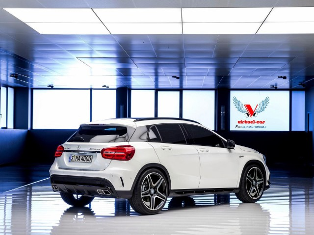Production-Spec Mercedes-Benz GLA 45 AMG Rendered