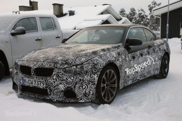 Upcoming BMW M4 Convertible Tests in the Snow