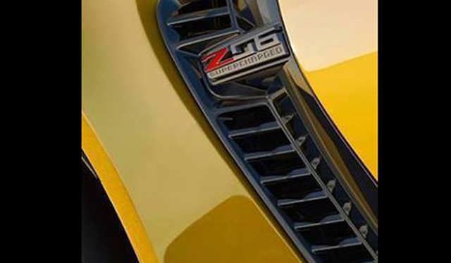 Leaked Image Showscases Supercharged Badge of new Corvette Z06