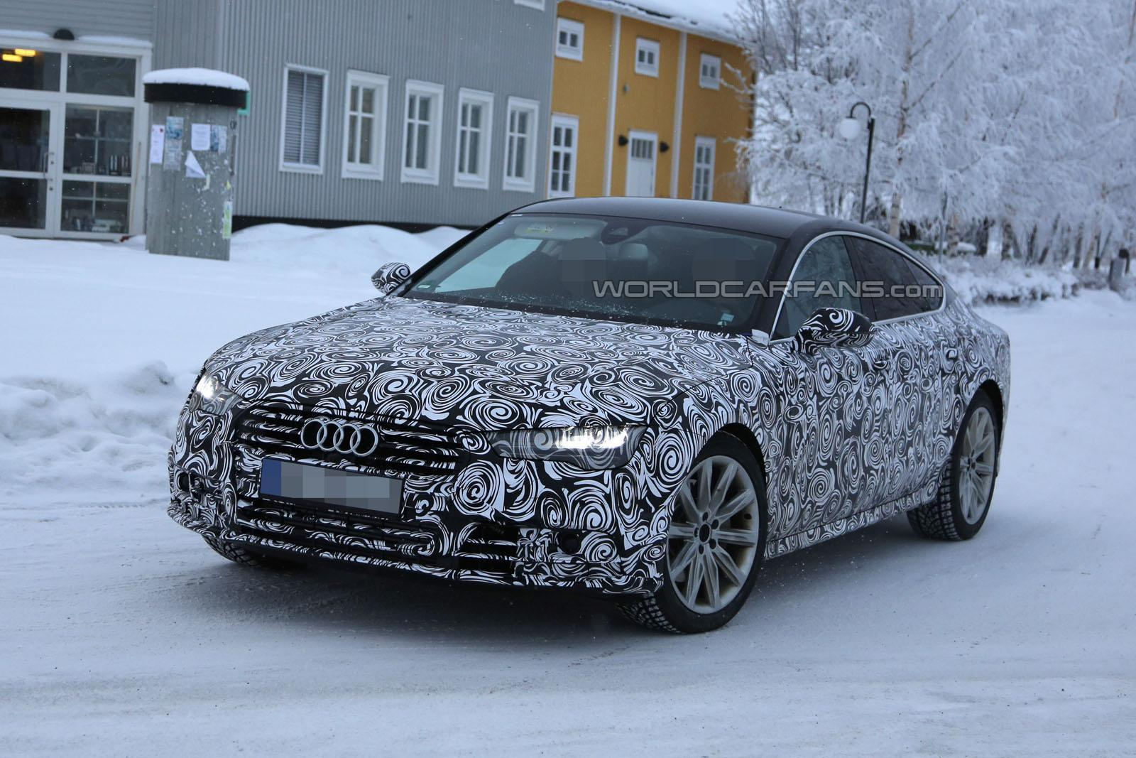 facelifted audi a7 tests in the snow gtspirit. Black Bedroom Furniture Sets. Home Design Ideas